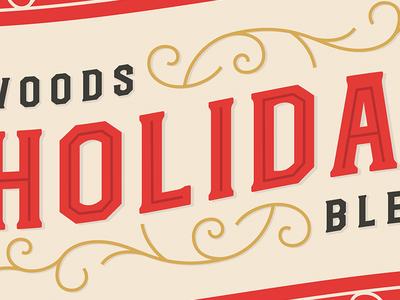 Tis The Season... mark label coffee art deco swirls christmas typography type holiday