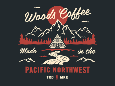 Made in the Northwest mountains trees sun a-frame tshirt clothing outdoors cabin illustration shirt hoodie northwest