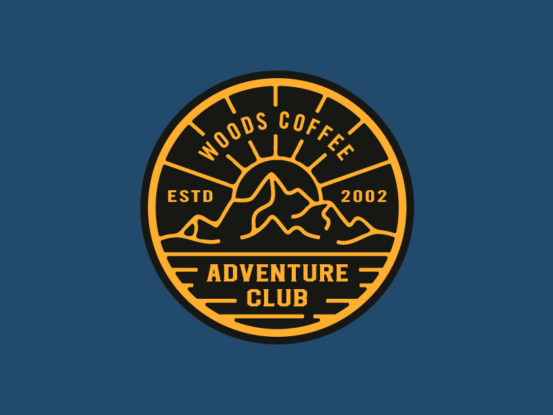 Adventure Club - Hat Patch icon brand outdoor sunset sunrise coffee woods mountain hat logo patch