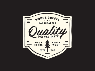 Quality You Can Taste handdrawn tree northwest pint glass cup merch mark logo badge handcrafted quality