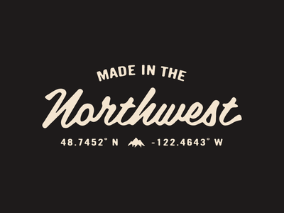 Made in the Northwest mountain hoodie clothing northwest type typography