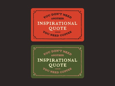 Inspirational Quote humor funny woods coffee coffee illustration lettering type handdrawn quote gift card