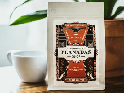 Planadas Packaging colombia ethnic single origin branding drink plant coffee packaging