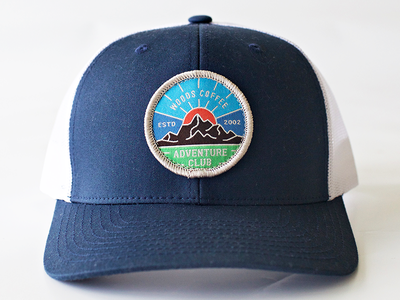 Adventure Club - Hat Patch outdoor hat woods coffee adventure hat patch clothing merch outdoor mountain sunset patch hat