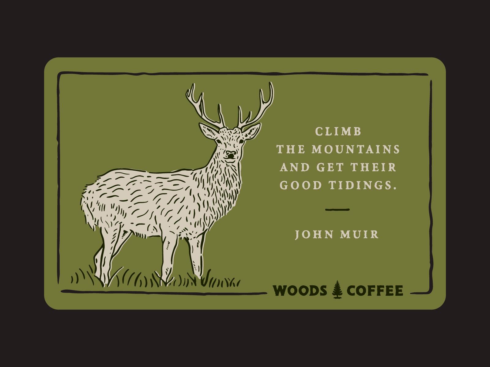 Woodscards deer 2 4x