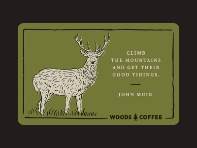 Oh Deer, Another Quote handdrawn type quote gift card coffee woods deer