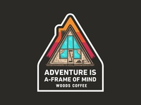 A-Frame Of Mind - Sticker