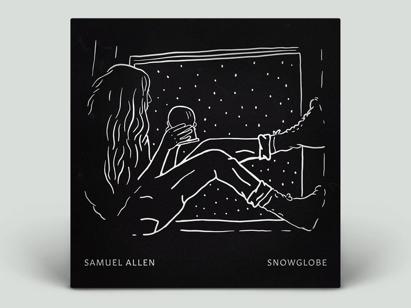 Snowglobe - Album Art album cover music girl window snowglobe ipadpro illustration album art