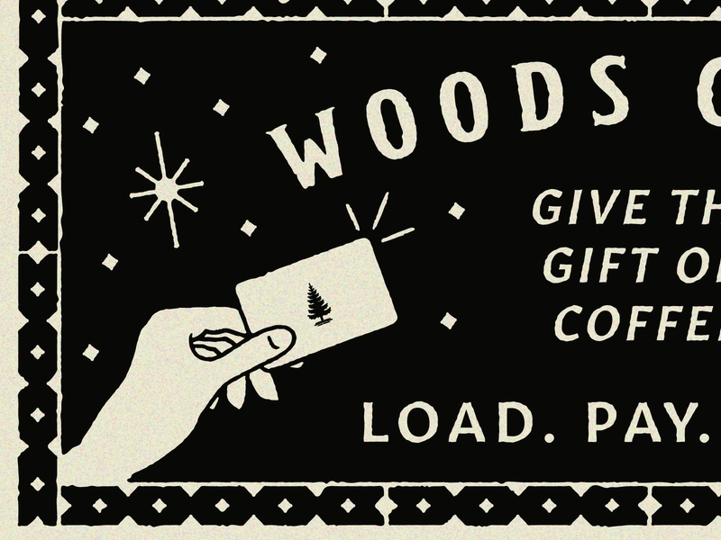 Up Close and Textured vintage magic hand type typography sign coffee woods coffee illustration texture