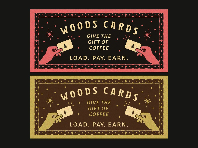 Gift Card Sign gift card typography stars magic hand sign coffee woods coffee texture