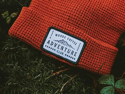 Adventure Club Beanie pnw merch adventure red hat design mountain patch hat beanie