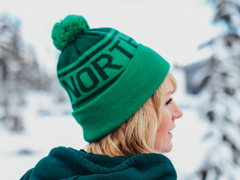 Custom Knit Beanie apparel badge patch hat merch merchandise northwest knit custom beanie