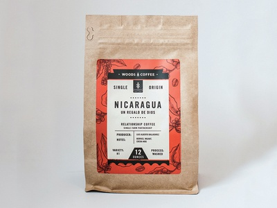 Nicaragua Single Origin Label