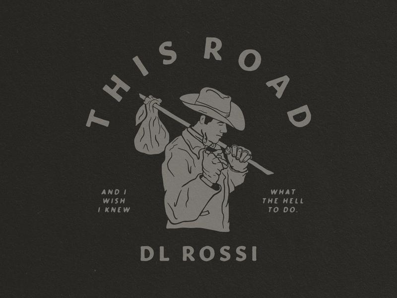 This Road - Shirt Design illustration handdrawn shirts cowboy shirtdesign merch country this road shirt