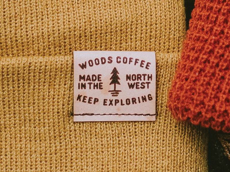 Leather Patch mountains pnw merch beanie tree leather patch