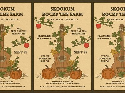 Rocks The Farm - Poster Design