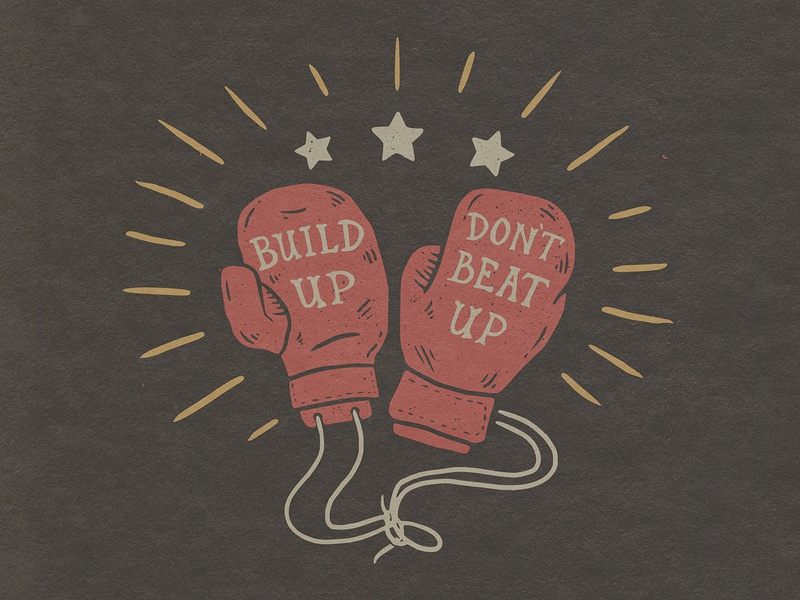 Beat Up vintage texture hand drawn boxing gloves gloves shirt