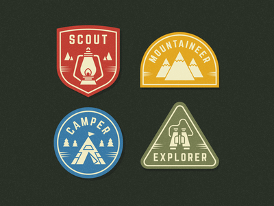 Scout Patches tent camper mountain