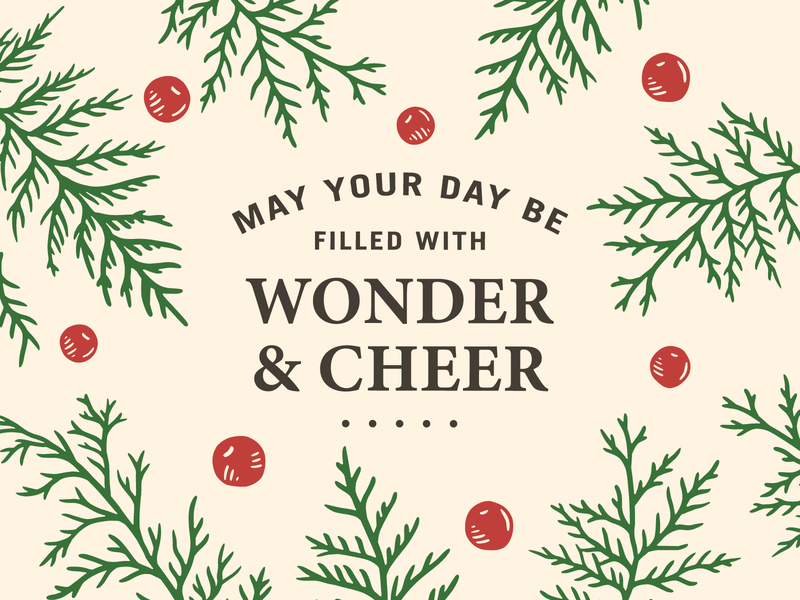 Woods Christmas Promo - 2019 holiday illustration promo christmas