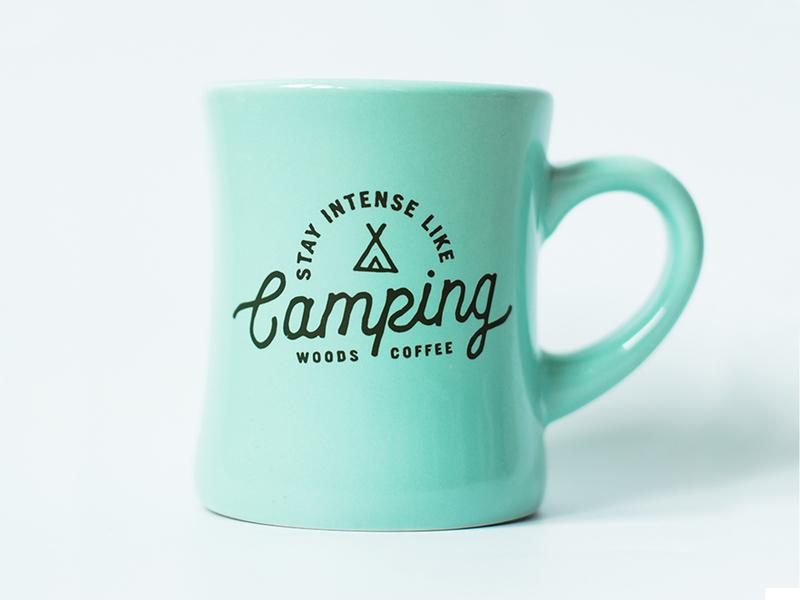 Stay Intense Like Camping teepee mug camping intense