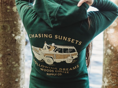 Chasing Sunsets Hoodie badge