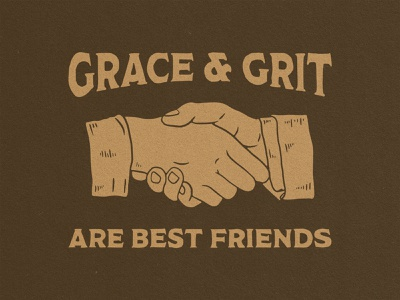 Grace and Grit custom type hand type handshake hands illustration