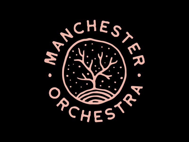 Manchester Orchestra - T-Shirt Design hand drawn metal band t-shirt lockup badge tree tshirt design band tour