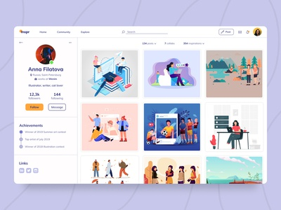 Daily UI Challenge - Day 6: User Profile