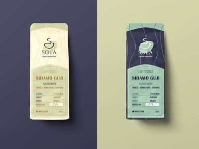 SOLA Coffee Roasters: Package design