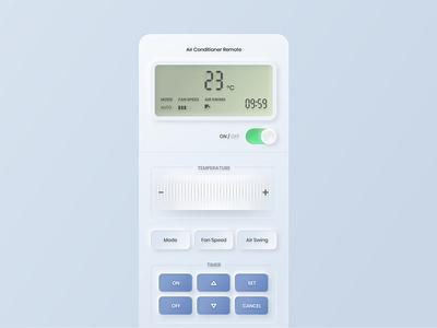 Air Conditioner Remote skeumorphism mobile apps mobile ui neomorphism design app ux ui uxdesign uidesign