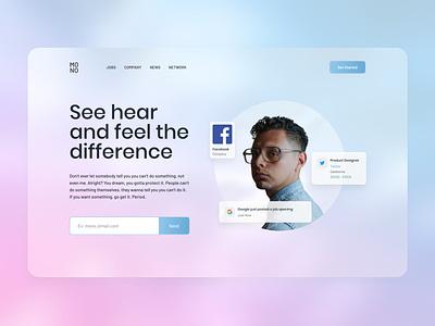 #Exploration - Jobfinder Website product design ux ui web design website branding design