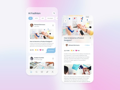 #Exploration - Online Publishing Mobile uidesign uxdesign blurred background product design mobile ui mobile apps branding app ux ui design