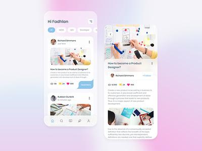 #Exploration - Online Publishing Mobile uidesign uxdesign blurred background product design mobile ui mobile apps branding app ux ui design