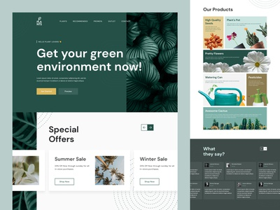 #Exploration -  Plants Online Store web design uxdesign uidesign branding app product design mobile ui mobile apps ux design ui