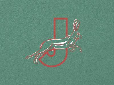 J for Jackrabbit digital art ink brushpen texture animals letters j type alphabet 36days 36daysoftype animal illustration animal art wildlife animal hare bunny rabbit jackrabbit illustration