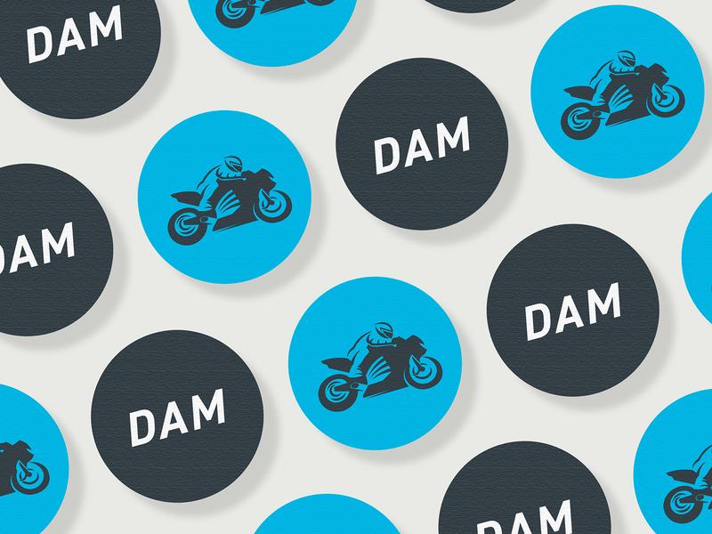 DAM Logo Design motorbikes biker motorcycles motorsport motor sport motor bike motorcycle motorbike logoset branding design logos logotype branding logo design logodesign brand identity logo brand illustration