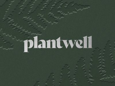 Plantwell visual identity silver foil green hot foil foil stamping card design nature art plant illustration self care healthy wellness plants plant nature branding design branding logodesign brand identity brand illustration