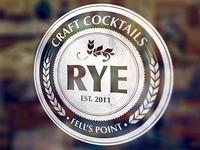 Rye Bar Logo Mockup