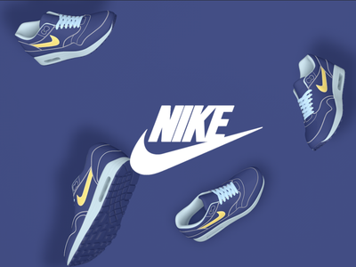 Nike nike shoes nike blue modelling cinema4d abstract 3d art 3d illustration graphic design artwork art