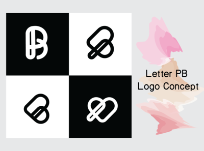 Letter PB logo concept for e-commerce