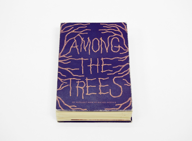 Among the Trees hand lettering bookbinding book cover typography illustration publication design layout design book design