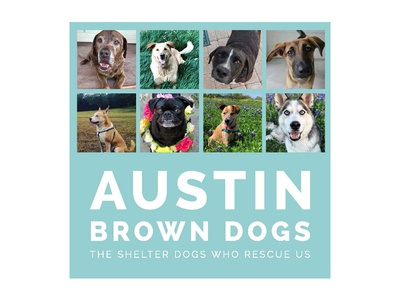 Austin Brown Dogs book cover publication design layout design book design typography