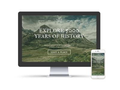 Historic Scotland interactive web design interactive identity design branding typography