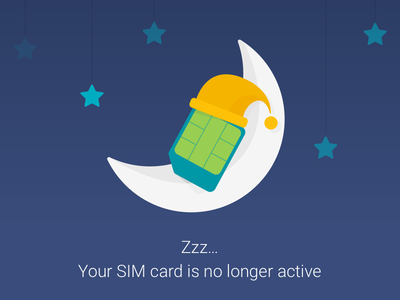 Project Fi - Sweet Dreams material sim card moon dream project fi google error page error illustration