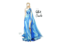 [17/100] Elie Saab marker drawing painting fashion illustration handdrawn