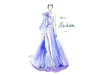 [18/100] Marchesa watercolor drawing painting fashion illustration handdrawn