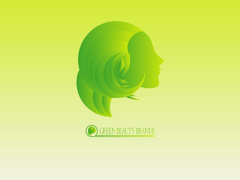 green beauty concept beautiful logo girls green logo character design branding design brand design skincare illustration illustrator flat vector typography logo icon flatdesign design branding