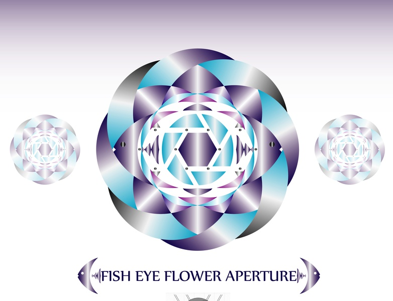 fish eye flower aperture photograph photograhy photography logo flower logo flower aperture fish fisheye illustration illustrator flat vector typography logo icon flatdesign design branding