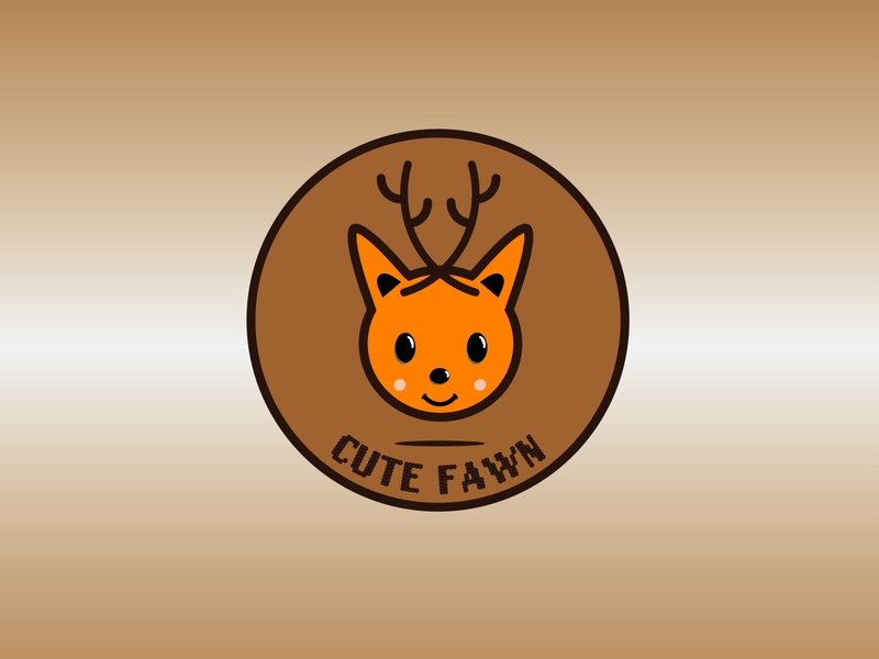 cutefawn logo deer logo babydeer deer cute animal cute art cute cutefawn illustration illustrator flat vector typography logo icon flatdesign design branding