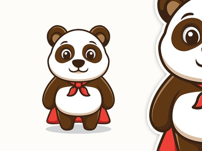 Super Panda brandidentity cartoonmascot cartoonlogo character customlogo cartoon character logo animation mascot cartoon branding